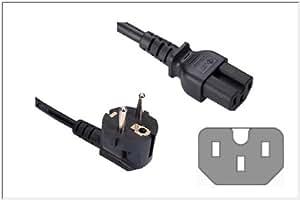 Kabelmeister câble adaptateur fiche ® alimentation schuko coudé warmgerätestecker c15 noir 1,8 m