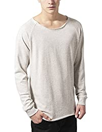 Urban Classics Long Open Edge Terry Crewneck, Sweat-Shirt Homme