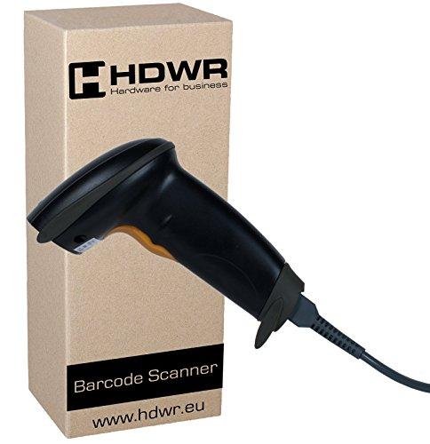 Barcode-drucker Seriell (USB Barcode-Scanner Code-Scanner Handheld, Schwarz Windows PC Laptop Linux Wired, HD42)