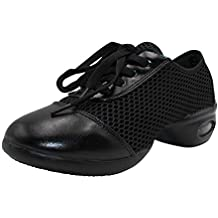 uirend Chaussures de Sport Danse Femme - Maille à Lacets Gym Respirant  Antidérapant Mode Baskets Moderne cdef60c42cd