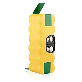 efluky 14.4V 3.5Ah Ni-MH Batterie de Rechange pour iRobot Roomba Aspirateur500 510 520 530 540 550 560 570 580 595 600 620 630 650 660 700 760 770 780 790 800 870 880 R3 80501 4419696 et Scooba(Jaune)