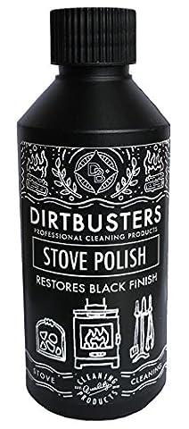 Dirtbusters Black Stove and Grate Polish 250ml and applicator pad