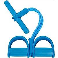 ZoneYan Cuerda Elástica de Pedal, Cuerda de Tensión Multifunción, Pedal Cuerdas de Tracción, Expansor de Culturismo, 4 Tubo Pierna Ejercitador, Pedal Resistance Band