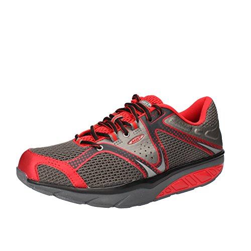 MBT sneakers Homme textile AC974 gris / rouge
