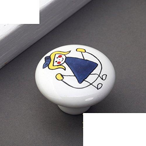 Kinder Keramik Griff/Cartoon-handle/Kleid Schuh Schranktür,Kupfer Armaturen/Rustikal Land Griffe-C (Armaturen Für Kleid, Schuhe)