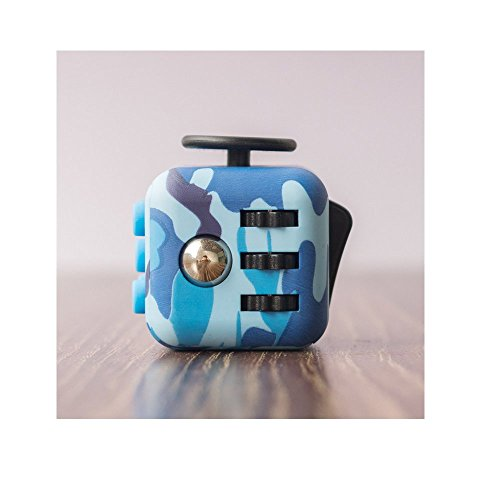 ENJOY JuYi Fidget Cube Relieves Stress And Anxiety for Children and Adults (Camo Blue) -