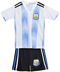 Roots4creation Argentina Football World Cup Jersey-2018 Messi Printed at Back