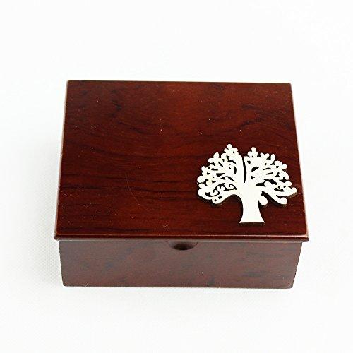 Dlm26465 scatola portagioie in legno svuotatasche albero della vita bomboniera