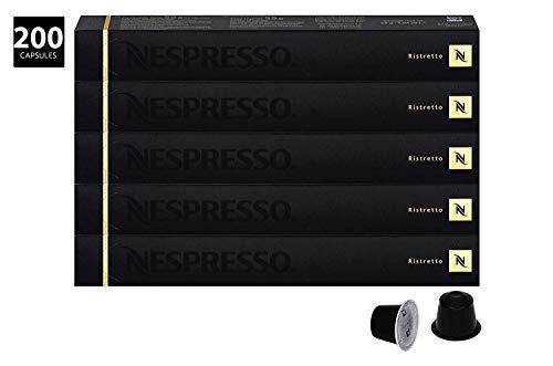 Nespresso - Cápsula de Café Ristretto, 200 Unidades