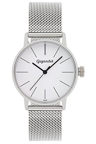 Gigandet Women's Quartz Wrist Watch Minimalism Analogue Stainless Steel Mesh Bracelet Silver G43-005