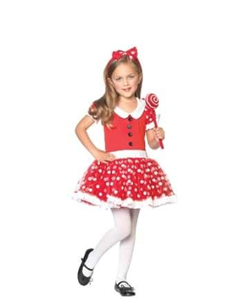 Leg Avenue - Costume Enfant Sucette - XL - Rouge/Blanc - C48131