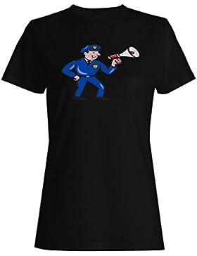 Novedad divertida del arte de los eeuu de los EEUU del policía camiseta de las mujeres a633f