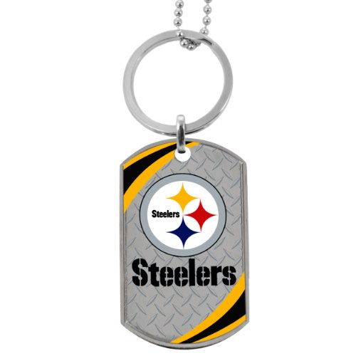 Forever Collectibles NFL Pittsburgh Steelers Team Dog Tag (Tag Dog Nfl)