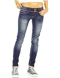 Bestyledberlin Damen Jeans, Skinny Hosen stretchig, enge Röhrenjeans j27i