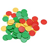kemai 68 Pieces Colored Plastic Counters Counting Chips Poker Chips Bingo Markers Tokens Board Card Game Toys