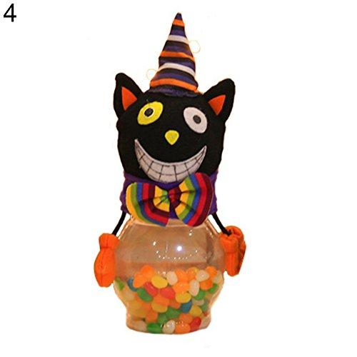 FeiyanfyQ Halloween Süßigkeitendose Geschenke Trick or Treat Spielzeug Puppe Süßigkeiten Aufbewahrungsbox Dekoration, Plastik, 4 (Halloween Leckereien Tüte Für)