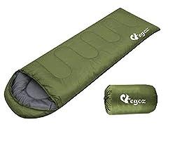 Peanut Vot EGOZ Schlafsack Einfach zu Tragen Warm Erwachsene im Freien Sports Zelten Camping Wandern Mit Tragetasche (Armee-Grün)