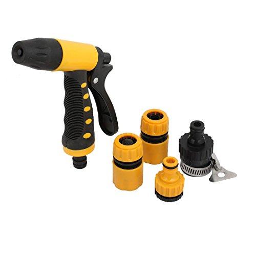 X-Dr Gartenbewässerung einstellbar Kunststoff Twist Schlauch Düse Spray Set Reinigungswerkzeug schwarz (53d6f6a5b02f1c2195941232db25bb76)