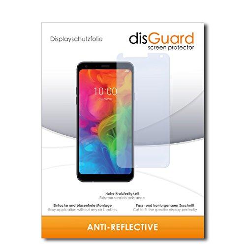 disGuard® Bildschirmschutzfolie [Anti-Reflex] kompatibel mit LG Q7 Plus [2 Stück] Entspiegelnd, Matt, Antireflektierend, Extrem Kratzfest, Anti-Fingerabdruck - Panzerglas Folie, Schutzfolie