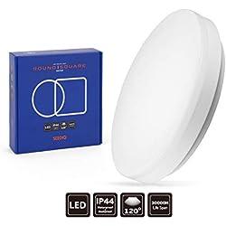 SEEDIQ® LED 15W Lámpara de techo, Plafón led de techo redonda,Lámpara dormitorio de techo Impermeable,Blanco Frío 5000K,luz para habitación,cocina,sala de estar,baño,balcón[eficiencia energética A+]
