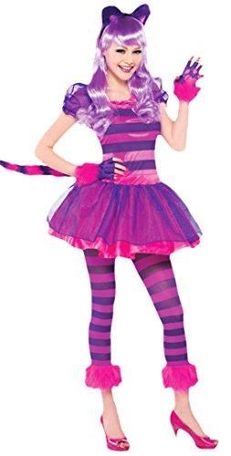 Halloweenia - Mädchen Karnevals Kostüm Cheshire Cat , Pink, Größe 164-176, 14-16 (Kostüm Halloween Katze Ganzkörper)