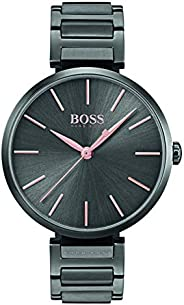 Hugo Boss Women's Black Dial Metal Band Watch - 150