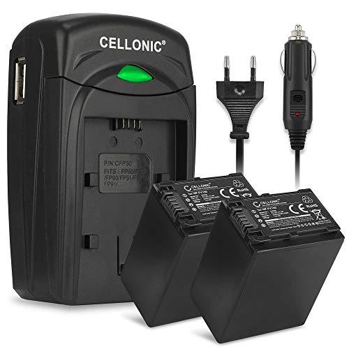 Cellonic 2X Batteria Compatibile con Sony FDR-AX53 -AX700 -AX100 HXR-NX80 HDR-CX625 -CX680 -CX900...