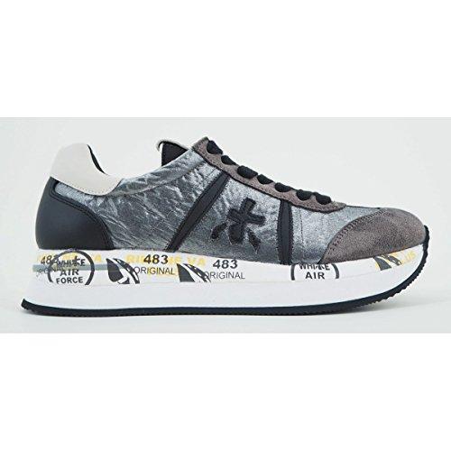 PREMIATA Zapatos Mujer Sneakers Conny 1493 Gamuza y Tejido Técnico