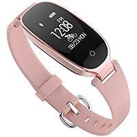 JMung'S Bracelet De Rythme Cardiaque Intelligent MatéRiau ABS Silicone KiloméTrage,Calories ConsomméEs,Surveillance Du Sommeil,Convient Pour Android Et iOS