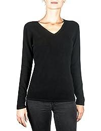 outlet store e5953 7e572 maglione scollo a v - Nero / Donna: Abbigliament - Amazon.it