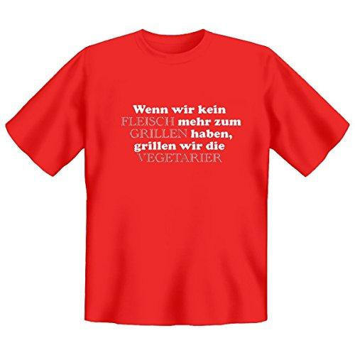 DAS Shirt für BBQ-Fans und Grillprofis: Wenn wir kein Fleisch mehr zum Grillen haben T-Shirt, Farbe rot, Rot