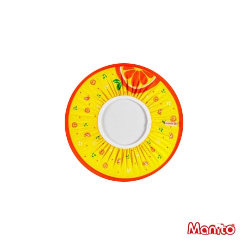 [Manito] Fruit Shampoo Cap / Capretto del bambino Bambino Adulto Shampoo Doccia Hat Cap capelli della lavata Shield (Orange)