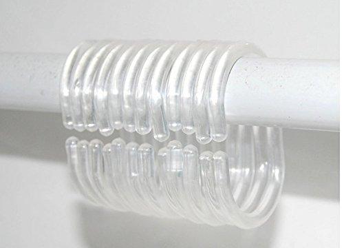 Nalmatoionme Trasparente Tenda Doccia C Rings Accessori Bagno