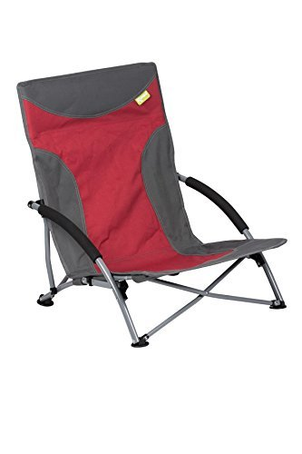 Strandstuhl mit breiten Standfüßen, Campingstuhl Kampa Sandy FT0048 rot-grau
