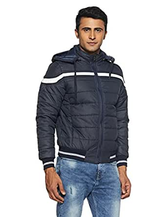 Qube By Fort Collins Men's Bomber Jacket (526_M_Navy)