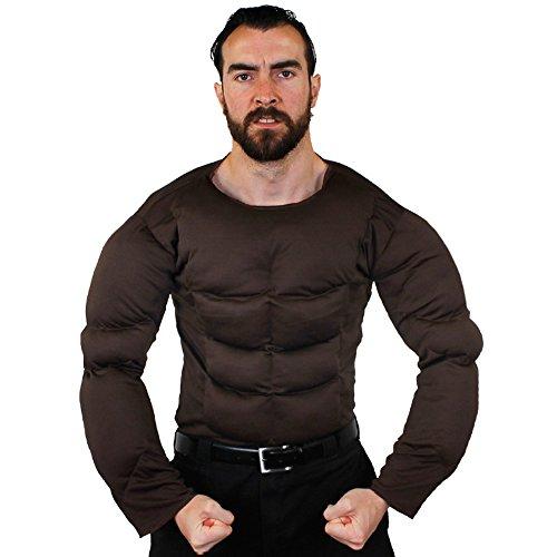 Erwachsene Muscle Brust-perfekte Halloween-Kostüm Accessoire oder für Superheld Kostüm-Standard Größe und extra - Batman Muskel Brust Für Erwachsene Kostüm