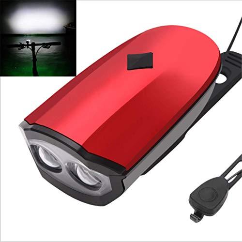 Zqzn ottimi fari per bici - t6 luce luce di ricarica usb speaker alluminio della bicicletta della montagna faro della bici con altoparlante,red