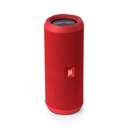 JBL Flip 3 Portable Wireless Speaker with Powerful Bass & Mic (Red)