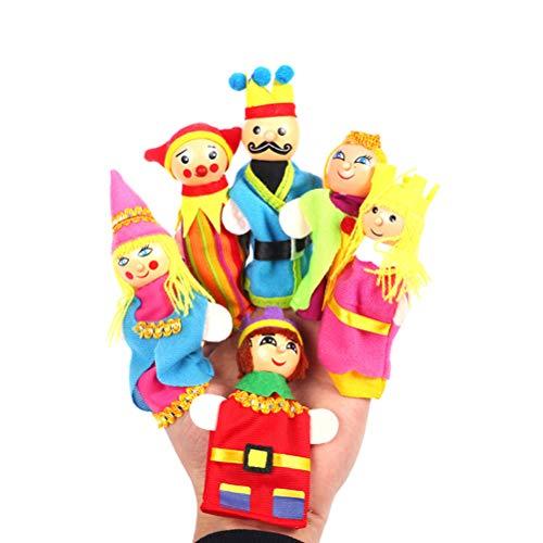 Toyvian Marionetas Dedo Madera Premium Cuentos Hadas