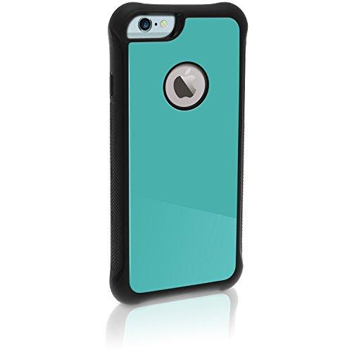 igadgitz Blau PC & TPU Gel Stoßfest Etui Tasche Schutzhülle für Apple iPhone 6 PLUS & 6S PLUS 5.5 Zoll Stoßstange Bumper Case Cover + Displayschutzfolie (Combo 4g Iphone Apple)
