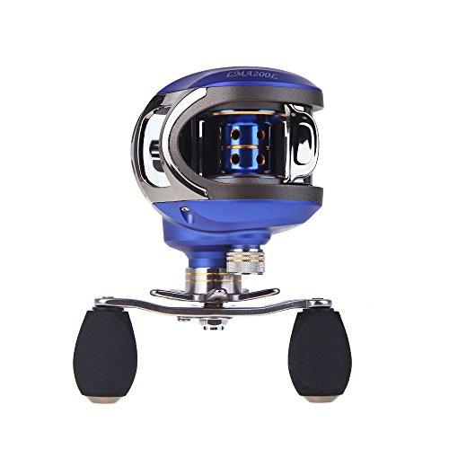 EverTrust (TM) UK Nuovo LMA20010+ 1BB Cuscinetti a sfera Mano Sinistra Carp Bait Casting Mulinello da Pesca Ad Alta Velocità Baitcasting Mulinello Pesca 6.3: 1-Blue