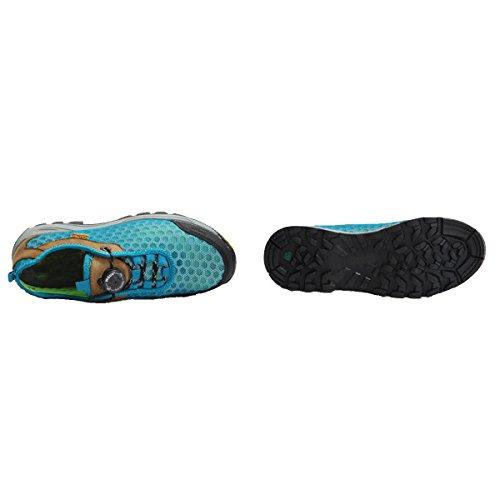 CHT Printemps Et D'automne Hommes Et Les Femmes Chaussures De Randonnée Multicolore Cuir Taille De Plein Air Blue