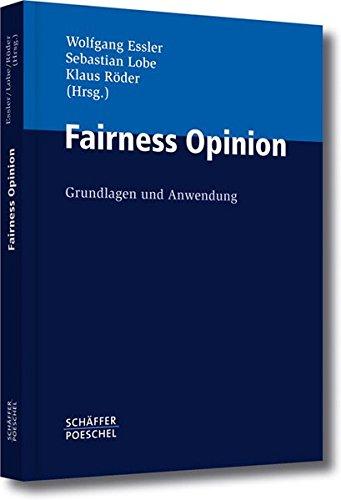 Fairness Opinion: Grundlagen und Anwendung