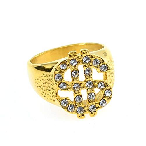 Lava Kostüm Girl - UINGKID Schmuck Damen Ring Europa und die Vereinigten Staaten New Diamond Jewelry Dollarzeichen Hip Hop Herren