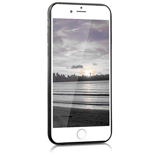 kwmobile ÉTUI EN TPU silicone pour Apple iPhone 6 / 6S Design aluminium brossé anthracite transparent. Étui design très stylé en TPU souple de qualité supérieure dégradé de couleurs métalliques anthracite argenté