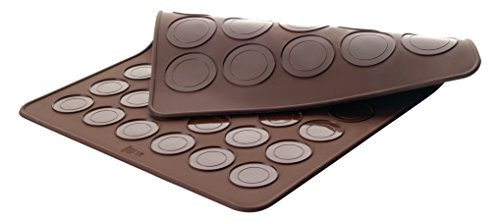 Lacor 66753 - Molde para Macarons Doble, 39 x 29 cm, color marrón width=