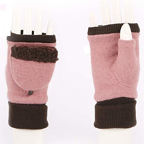 41xp VFmc2L. SS500  - LXLFDJ Female Half Finger fingertips Warm Thick Touch Screen Size Gloves