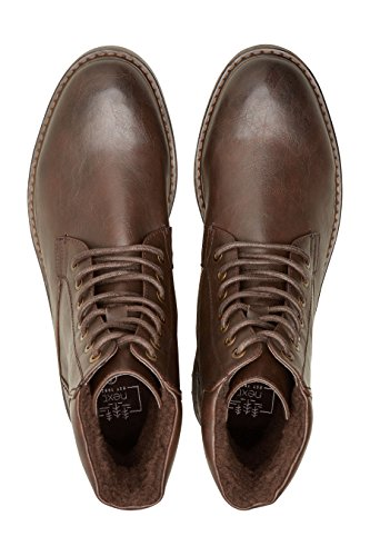 next Bottines de Travail Doublées en Imitation Peau de Mouton Homme Regular Marron