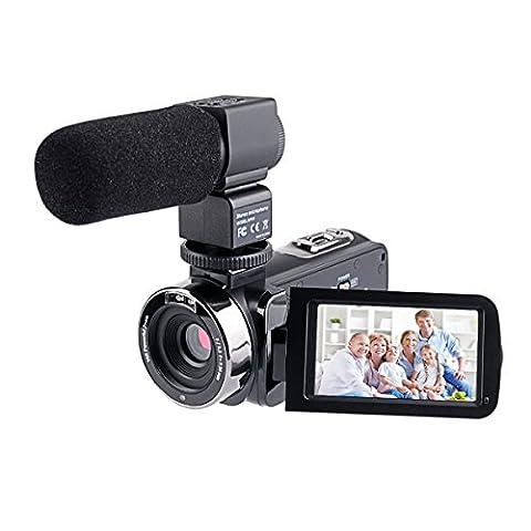 CkeyiN 24 MP Full HD Caméscope Vidéo 16X Zoom, Vision