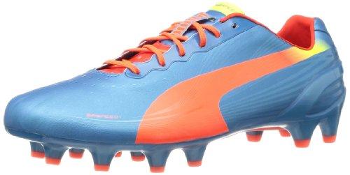 Puma evoSPEED 1.2 FG, Scarpe da calcio uomo Blau (sharks blue-fluro peach-fluro yellow 05)